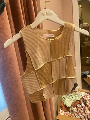 Caramel Patchwork Top