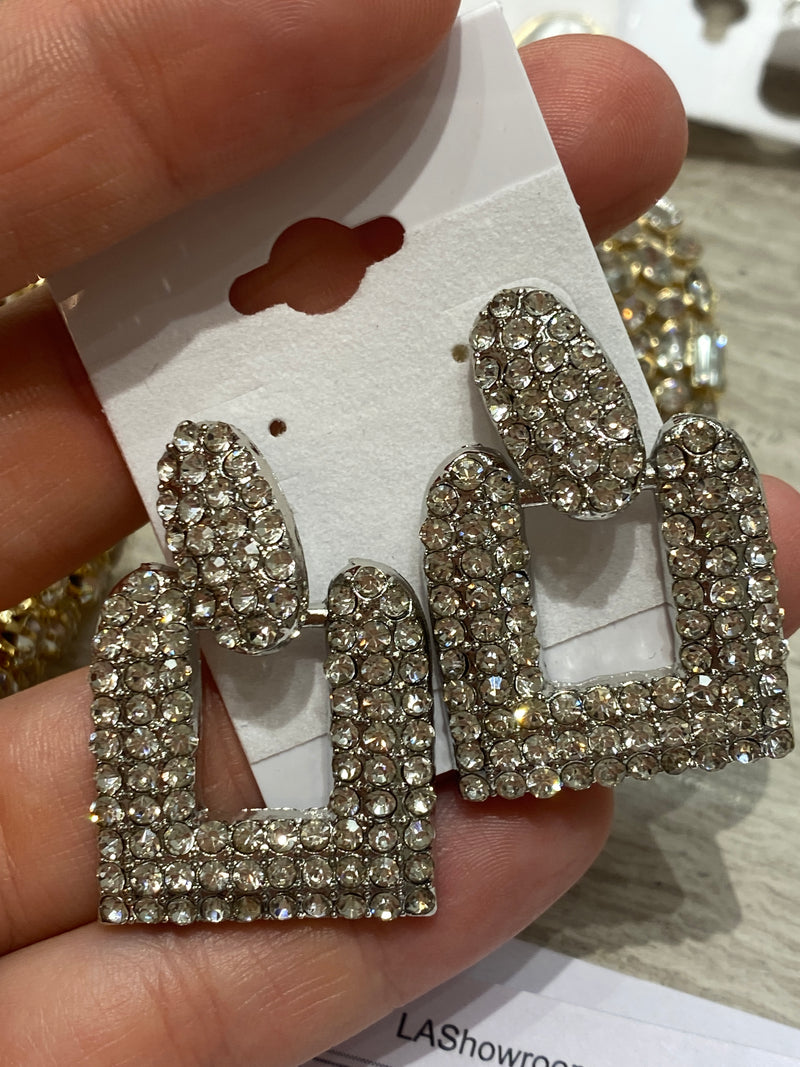 Silver Cut Out Earring