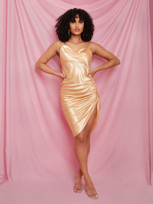 Nicolette Satin Slip Dress