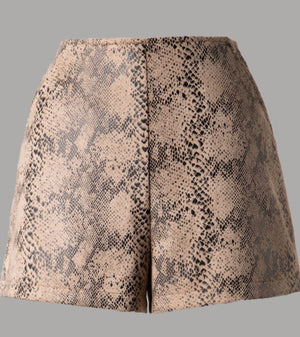 Suede Snake Shorts