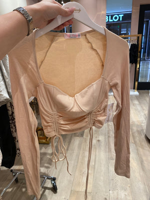 Nude Scrunch Long Sleeve