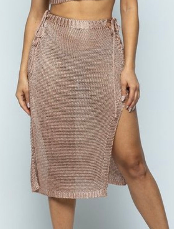 R. Gold Swim Cover Skirt