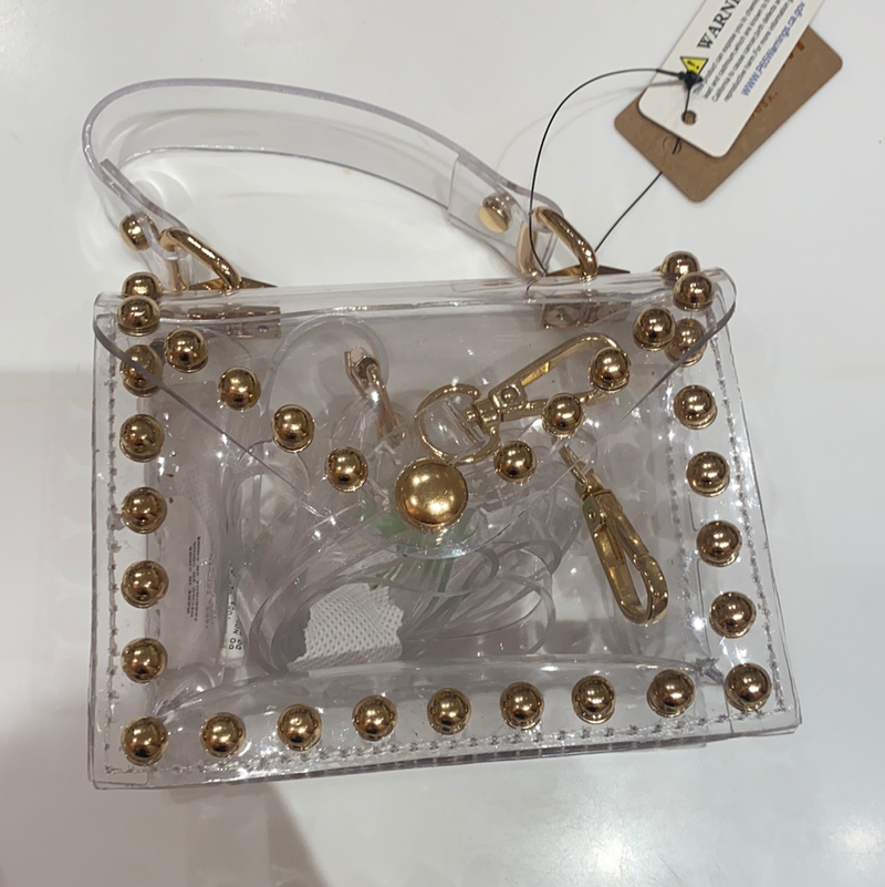 Clear Studded Mini Bag