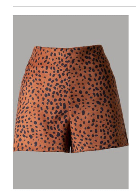 Leopard Suede Shorts