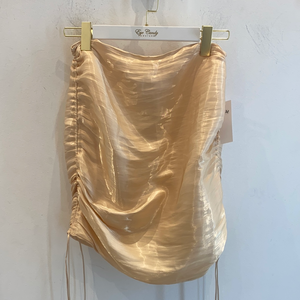 Gold Satin Skirt