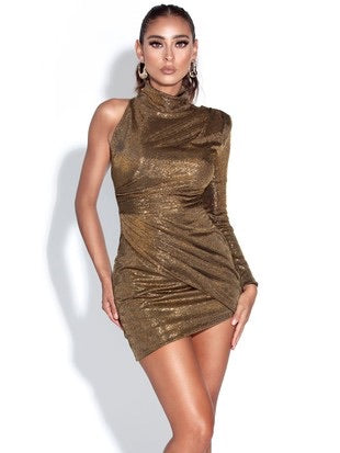 Tavia Metallic Dress