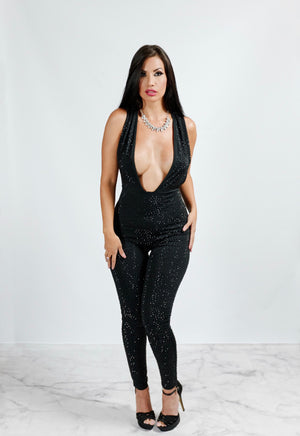 Crystal Embellished Jumpsuit
