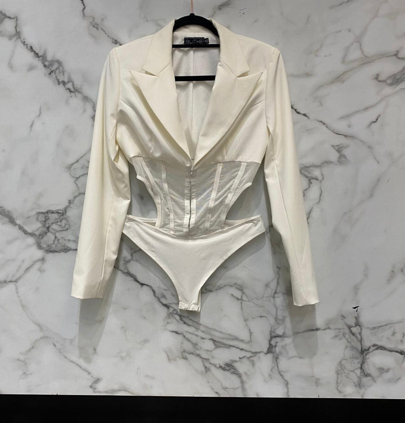 White Mesh Bodysuit