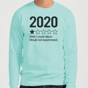 2020 1 Star Review Wish I Could Return. Would Not Recommend Unisex Sweatshirt - Wake Slay Repeat
