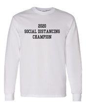 Load image into Gallery viewer, 2020 Social Distancing Champion Unisex Long Sleeve T Shirt - Wake Slay Repeat