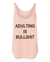 Load image into Gallery viewer, Adulting Is Bullshit Side Slit Tank Top - Wake Slay Repeat