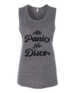 All Panic No Disco Fitted Muscle Tank - Wake Slay Repeat