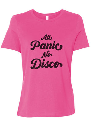 All Panic No Disco Fitted Women's T Shirt