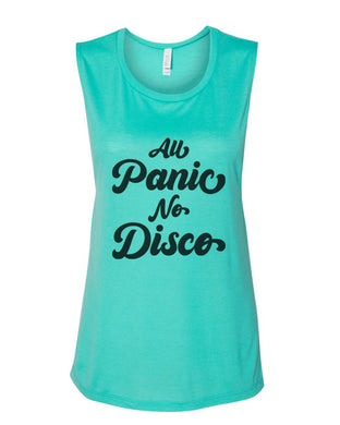 All Panic No Disco Fitted Muscle Tank
