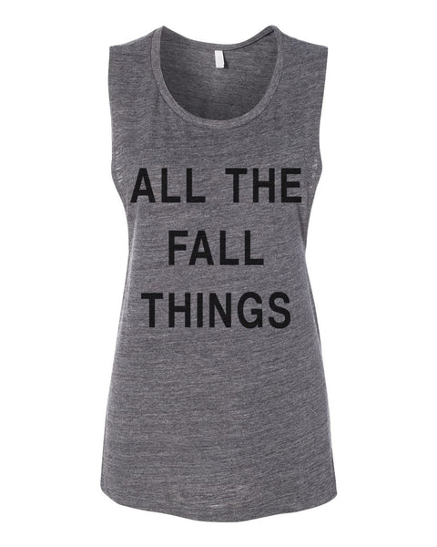 All The Fall Things Workout Flowy Scoop Muscle Tank