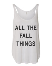 Load image into Gallery viewer, All The Fall Things Flowy Side Slit Tank Top - Wake Slay Repeat