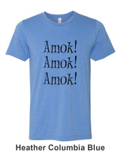 Load image into Gallery viewer, Amok! Amok! Amok! Unisex Short Sleeve T Shirt - Wake Slay Repeat