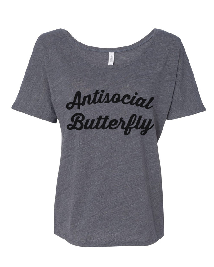 Antisocial Butterfly Slouchy Tee - Wake Slay Repeat