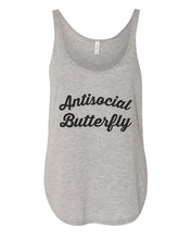 Load image into Gallery viewer, Antisocial Butterfly Flowy Side Slit Tank Top - Wake Slay Repeat