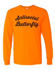 Load image into Gallery viewer, Antisocial Butterfly Unisex Long Sleeve T Shirt - Wake Slay Repeat