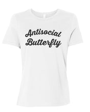 Load image into Gallery viewer, Antisocial Butterfly Relaxed Women's T Shirt - Wake Slay Repeat