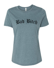 Load image into Gallery viewer, Bad Bitch Fitted Women's T Shirt - Wake Slay Repeat