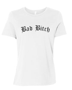 Bad Bitch Fitted Women's T Shirt - Wake Slay Repeat