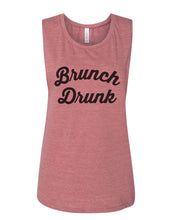 Load image into Gallery viewer, Brunch Drunk Flowy Scoop Muscle Tank - Wake Slay Repeat