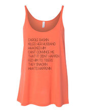 Load image into Gallery viewer, Carole Baskin Song Slouchy Tank - Wake Slay Repeat