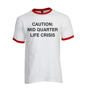 Mostly True Opinions Caution: Mid Quarter Life Crisis Unisex Ringer - Wake Slay Repeat