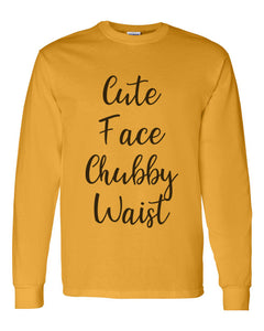 Cute Face Chubby Waist Unisex Long Sleeve T Shirt - Wake Slay Repeat