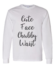 Load image into Gallery viewer, Cute Face Chubby Waist Unisex Long Sleeve T Shirt - Wake Slay Repeat
