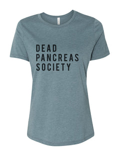 Dead Pancreas Society Fitted Women's T Shirt - Wake Slay Repeat