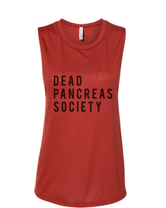 Dead Pancreas Society Fitted Muscle Tank - Wake Slay Repeat