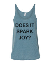 Load image into Gallery viewer, Does It Spark Joy Slouchy Tank - Wake Slay Repeat