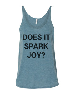 Does It Spark Joy Slouchy Tank - Wake Slay Repeat