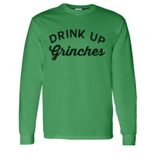 Load image into Gallery viewer, Drink Up Grinches Christmas Unisex Long Sleeve T Shirt - Wake Slay Repeat