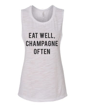Load image into Gallery viewer, Eat Well, Champagne Often Flowy Scoop Muscle Tank - Wake Slay Repeat