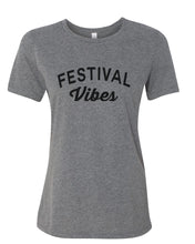 Load image into Gallery viewer, Festival Vibes Fitted Women's T Shirt - Wake Slay Repeat
