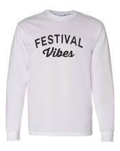 Load image into Gallery viewer, Festival Vibes Unisex Long Sleeve T Shirt - Wake Slay Repeat