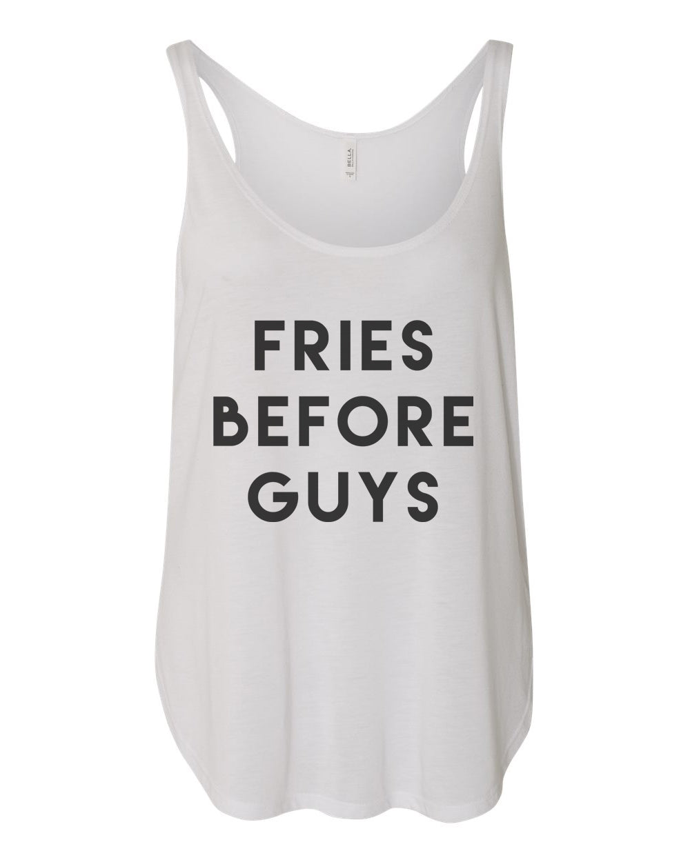 Fries Before Guys Flowy Side Slit Tank Top