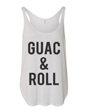 Load image into Gallery viewer, Guac & Roll Flowy Side Slit Tank Top - Wake Slay Repeat