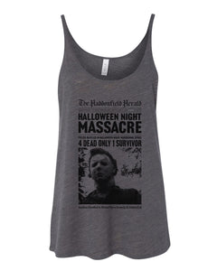 Haddonfield Newspaper Slouchy Tank - Wake Slay Repeat