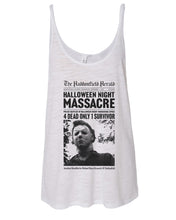 Load image into Gallery viewer, Haddonfield Newspaper Slouchy Tank - Wake Slay Repeat