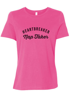 Heartbreaker Nap Taker Fitted Women's T Shirt - Wake Slay Repeat