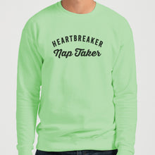 Load image into Gallery viewer, Heartbreaker Nap Taker Unisex Sweatshirt - Wake Slay Repeat