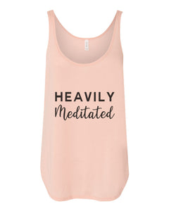 Heavily Meditated Flowy Side Slit Tank Top - Wake Slay Repeat