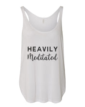 Load image into Gallery viewer, Heavily Meditated Flowy Side Slit Tank Top - Wake Slay Repeat