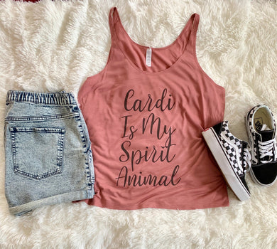Cardi B Is My Spirit Animal Slouchy Tank - Wake Slay Repeat