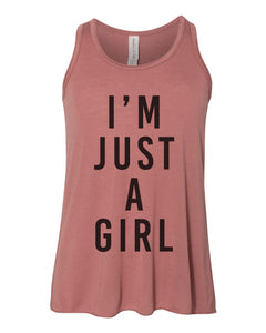I'm Just A Girl Youth Flowy Racerback Tank